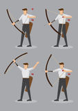 Archers with Bow and Arrows Vector Character Illustration Stock Image