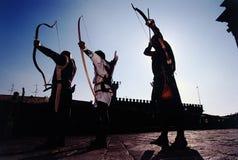 Archers medioevali Immagini Stock