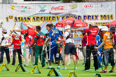 Archers in a row Stock Photos