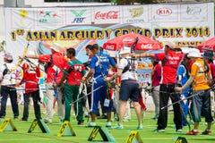 Archers in a row Stock Photos