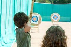 Archery детской игры Стоковые Изображения