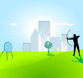 Archery. Illustration of  target Royalty Free Stock Photography