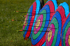 Archery. In some places, there is such a archery activities.Once the need to survive, and now has evolved into a sport activity, or even a business Stock Photography