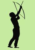 Archery. A illustration of a man doing archery vector illustration