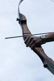 Archery for active people. Having fun in the forest, adventure park and archery Royalty Free Stock Photography
