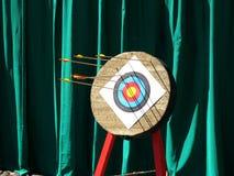 Archery Arrows in Target Stock Photos