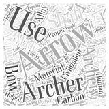 Archery arrows word cloud concept  background Stock Image