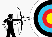 Archery background Stock Photo