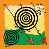 Archery background Royalty Free Stock Photography