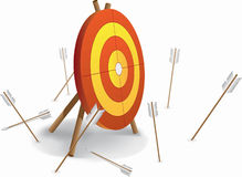 Archery and bad shutting Stock Image