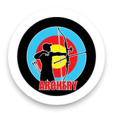 Archery badge. Badge label for archery sport Stock Illustration