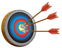 An archery board Royalty Free Stock Photography