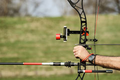 Archery bow stock photo