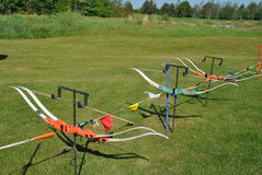 Archery bows Stock Photo