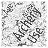 Archery bows word cloud concept  background Royalty Free Stock Photography