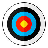 Archery Bull`s Eye Target Flat Icon on White Royalty Free Stock Images