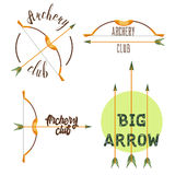 Archery club logo set stock illustration