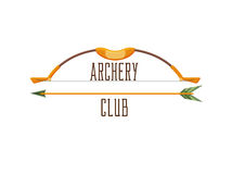 Archery club logo royalty free illustration