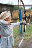 Archery coaching Royalty Free Stock Image
