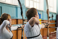 Archery competition Stock Photography