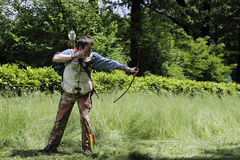 Archery competition Stock Image
