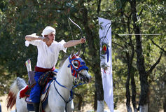 Archery competition in Turkey Royalty Free Stock Photos