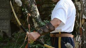 Archery Contest Performance stock footage