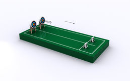 Archery Court Icon Royalty Free Stock Photography