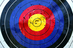 Archery or dart target. Much used archery or dart target stock photos