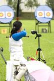 Archery for Disabled Persons Royalty Free Stock Images