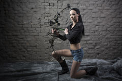 Archery Girl Stock Photography
