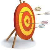 Archery and good shooting. Two Royalty Free Stock Images