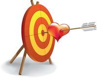 Archery and heart. Drop blood Stock Photography