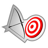 Archery icon Royalty Free Stock Photography
