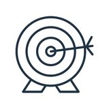 Archery icon isolated on white background, Archery sign vector illustration
