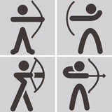 Archery icons Stock Photography