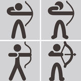 Archery icons Royalty Free Stock Image