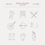 Archery Icons Stock Photo