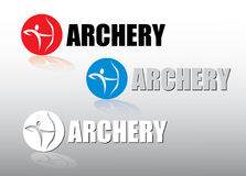Archery label Stock Images