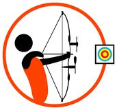Archery man Royalty Free Stock Images