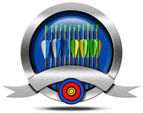 Archery Metal Icon Stock Images