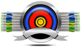 Archery Metal Icon Stock Photo
