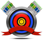Archery Metal Icon Royalty Free Stock Photography