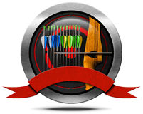 Archery Metal Icon Stock Photography