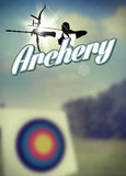 Archery poster Royalty Free Stock Image