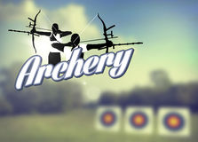 Archery poster Royalty Free Stock Photo
