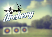 Archery poster Stock Image