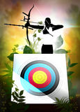 Archery poster Royalty Free Stock Images