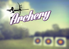 Archery poster Royalty Free Stock Photos