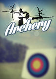 Archery poster Stock Photo